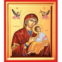Icoana Maica Domnului Izbavitoarea, pictata 19 / 25 cm