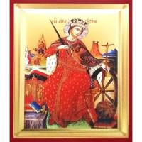 Icoana Sfanta Mucenita Ecaterina, pictata 19 / 25 cm