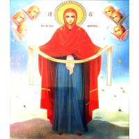 Icoana Acoperamantul Maicii Domnului, litografie 30 / 40 cm