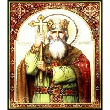 Icoana Sfantul Vladimir, litografie 30 / 40 cm